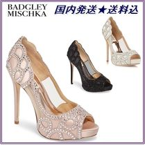 Badgley Mischka Open Toe Platform Party Style With Jewels Shoes