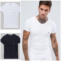 A/X Armani Exchange Street Style V-Neck Plain Cotton V-Neck T-Shirts
