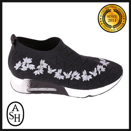 Flower Patterns Rubber Sole Casual Style Street Style