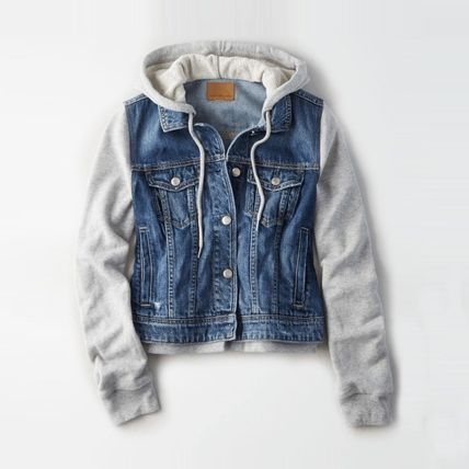 6dc867adc American Eagle Outfitters 2018-19AW Denim Street Style Medium Down Jackets  (AFMS3OA2553A / 2553)