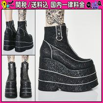 DOLLS KILL Platform Round Toe Casual Style Plain Ankle & Booties Boots