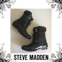 Steve Madden Round Toe Casual Style Faux Fur Street Style Plain