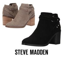 Steve Madden Casual Style Suede Street Style Plain Block Heels