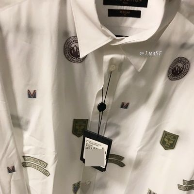 Louis Vuitton Shirts Unisex Street Style Long Sleeves Cotton Shirts 4