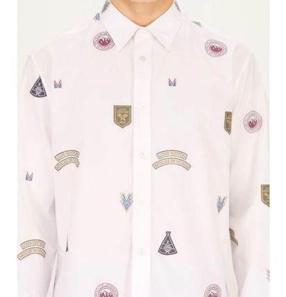 Louis Vuitton Shirts Unisex Street Style Long Sleeves Cotton Shirts 6