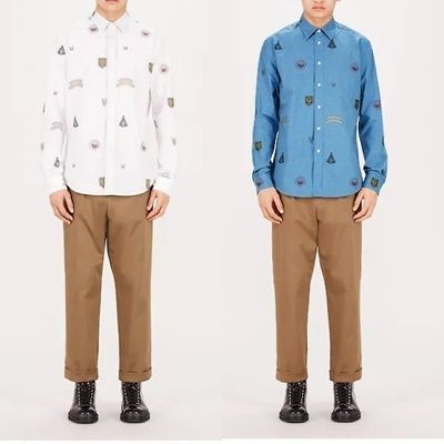Louis Vuitton Shirts Unisex Street Style Long Sleeves Cotton Shirts 7