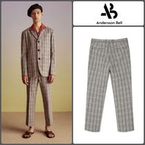 ANDERSSON BELL Slax Pants Glen Patterns Cotton Slacks Pants