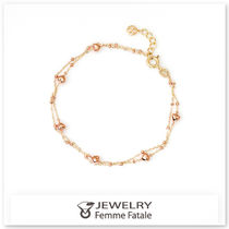 Office Style 14K Gold Anklets