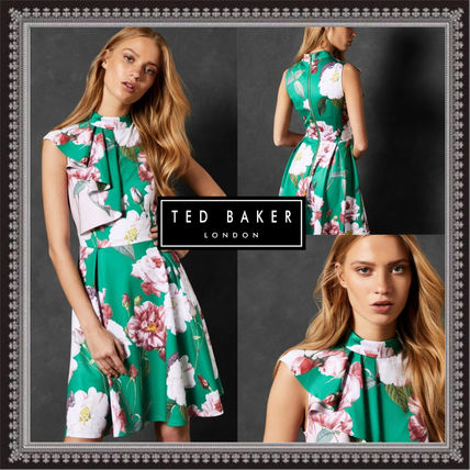 1c1a924ce47c4 ... TED BAKER Dresses Flower Patterns A-line Sleeveless Medium Elegant Style  ...