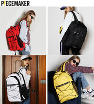 PIECEMAKER Casual Style Unisex Street Style A4 Plain Backpacks