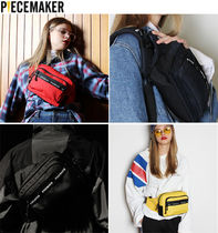 PIECEMAKER Casual Style Unisex Street Style Plain Hip Packs