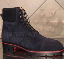 Christian Louboutin Straight Tip Plain Leather Boots