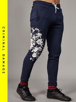 CRIMINAL DAMAGE Flower Patterns Sweat Street Style Joggers & Sweatpants