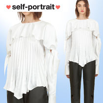 SELF PORTRAIT Nylon Plain Medium Party Style Puff Sleeves Shirts & Blouses