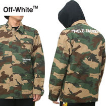 Off-White Short Camouflage Parkas