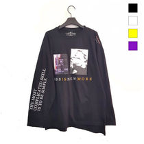 Crew Neck Unisex Street Style Long Sleeves Cotton Oversized