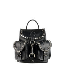 GRAFEA Casual Style Studded Leather Backpacks