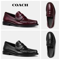 Coach Loafers Plain Leather Bold Loafers & Slip-ons