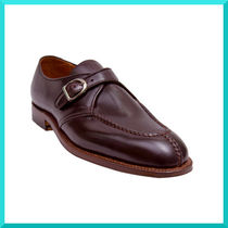 ALDEN Monk Plain Leather V Tips Loafers & Slip-ons