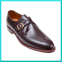 ALDEN Straight Tip Monk Plain Leather Loafers & Slip-ons