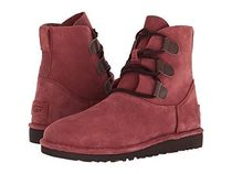 UGG Australia Round Toe Rubber Sole Lace-up Casual Style Suede Plain