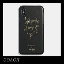 Coach Collaboration Leather Smart Phone Cases