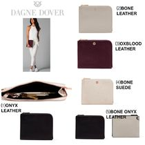 DAGNE DOVER Casual Style Plain Leather Clutches