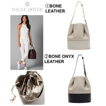 DAGNE DOVER Casual Style 2WAY Plain Leather Shoulder Bags