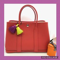 HERMES Garden Party Casual Style Plain Leather Handbags