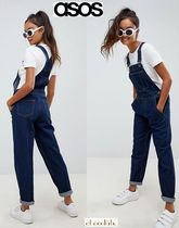 ASOS Dungarees Casual Style Denim Sleeveless Street Style Plain