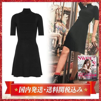 Short Tight Plain Short Sleeves Elegant Style Dresses