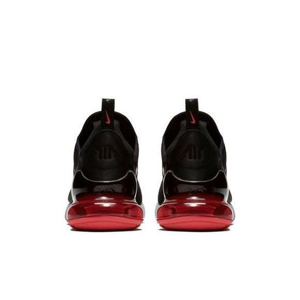 07c78a8ae8f Nike AIR MAX 270 2018 SS Street Style Oversized Sneakers (BLACK RED ...