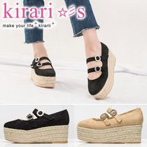 Platform Round Toe Casual Style Suede Plain