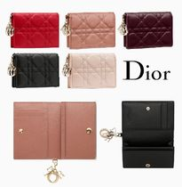 Christian Dior LADY DIOR Lambskin Card Holders