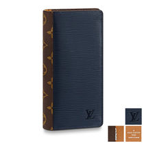 Louis Vuitton Plain Leather Long Wallets