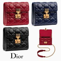 Christian Dior DIORADDICT Lambskin Chain Party Style Clutches
