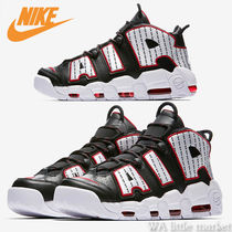 Nike AIR MORE UPTEMPO Stripes Leather Sneakers