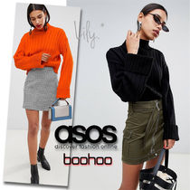 ASOS Casual Style Rib Plain High-Neck Sweaters