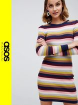 ASOS Stripes Casual Style Long Sleeves Dresses