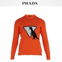 PRADA Wool Long Sleeves Other Animal Patterns Knits & Sweaters