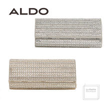ALDO Faux Fur 2WAY Chain Plain Party Style With Jewels Clutches
