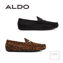 ALDO Leopard Patterns Driving Shoes Leather Oversized