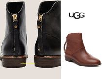 UGG Australia Casual Style Street Style Plain Leather Block Heels
