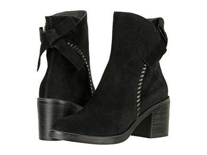 UGG Australia Ankle & Booties Round Toe Casual Style Suede Street Style Plain Block Heels 5