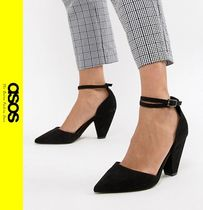 ASOS Casual Style Faux Fur Pointed Toe Pumps & Mules