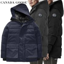 CANADA GOOSE Blended Fabrics Street Style Plain Medium Down Jackets