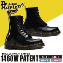 Dr Martens Rubber Sole Lace-up Street Style Leather Lace-up Boots