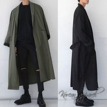 Street Style Plain Long Chester Coats