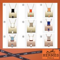 HERMES Costume Jewelry Casual Style Unisex Blended Fabrics 18K Gold