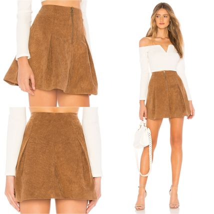 Flared Skirts Short Plain Skirts